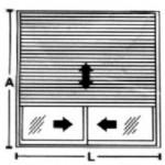 Janela de Correr - 2 folhas com persiana integrada