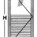Porta de Giro - 1 folha  1/2 para veneziana  1/2 para vidro