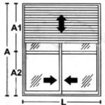 Porta de Giro - 2 folhas com persiana integrada
